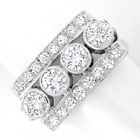 Foto 1, Platin Diamant Handarbeits Ring 1,63Carat Schmuck Neuw., S8934