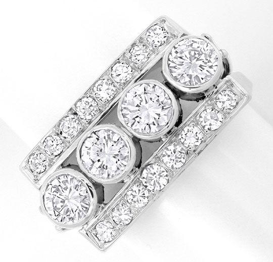 Foto 2, Platin Diamant Handarbeits Ring 1,63Carat Schmuck Neuw., S8934