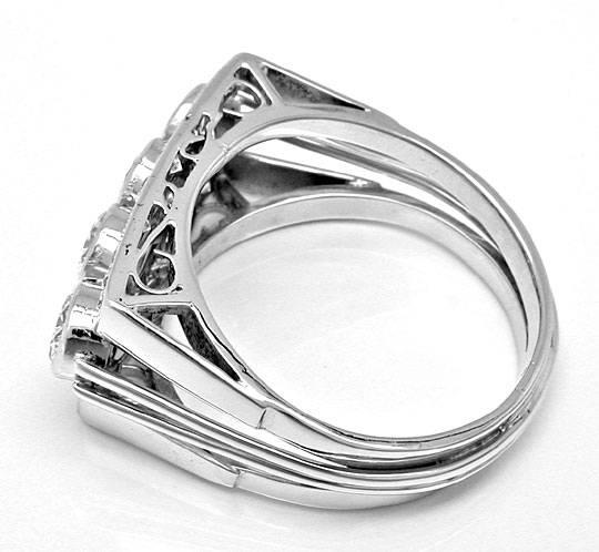 Foto 3, Platin Diamant Handarbeits Ring 1,63Carat Schmuck Neuw., S8934
