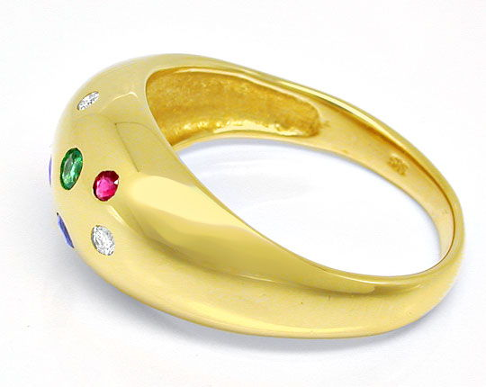 Foto 3, Diamanten Safire Rubine Smaragd Band Ring 14K Shop Neu!, S8939