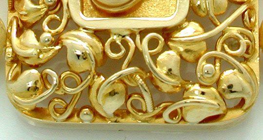 Foto 2, Zuchtperlen Gold Platin Diamant Kollier 3 reihig Luxus!, S8940