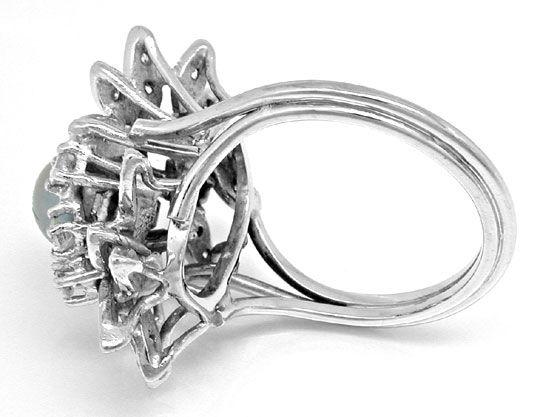 Foto 3, Zuchtperl Diamant Ring Handarbeit Weissgold Luxus! Neu!, S8942