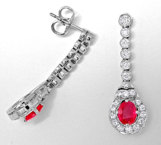 Foto 2, Brillant Ohrgehänge Traum Rubine, 0,86 Diamanten Luxus!, S8967