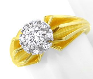 Foto 1 - Diamant Ring River Lupenrein massiv Bicolor Luxus! Neu!, S8979