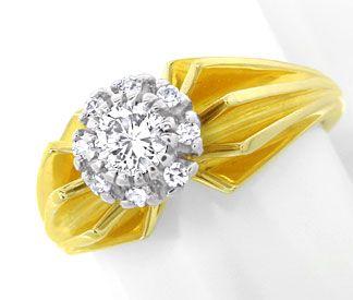 Foto 1, Diamant Ring River Lupenrein massiv Bicolor Luxus! Neu!, S8979