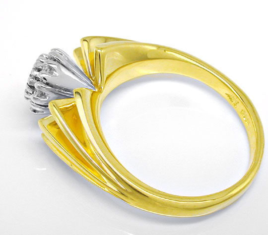 Foto 3, Diamant Ring River Lupenrein massiv Bicolor Luxus! Neu!, S8979