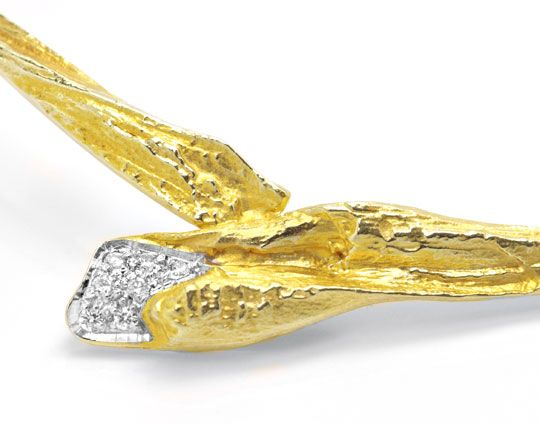 Foto 3, Diamant Kollier Top Passform River Lupenrein Luxus! Neu, S8988