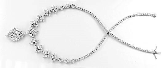 Foto 1, 20ct Diamantkollier Viele Trage Variationen Schmuck Neu, S8989