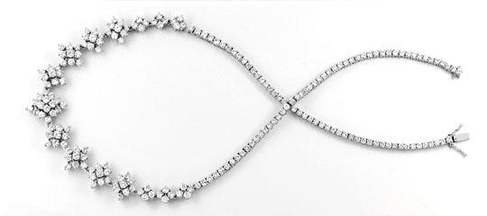 Foto 2, 20ct Diamantkollier Viele Trage Variationen Schmuck Neu, S8989