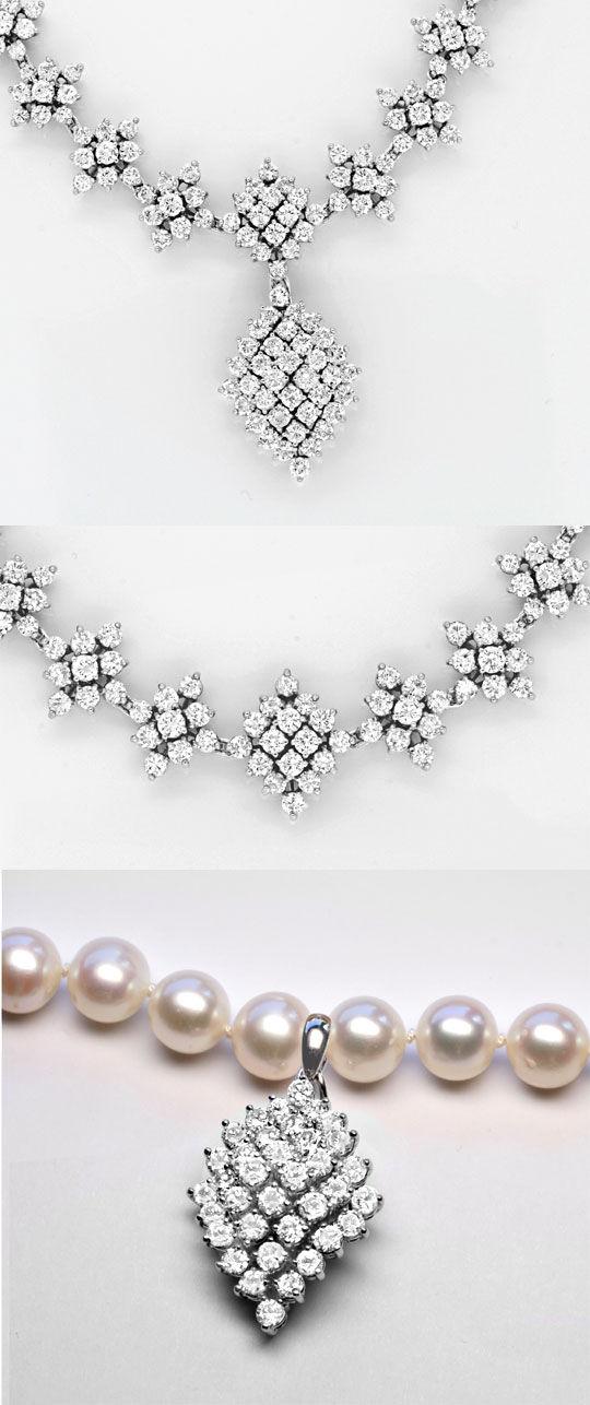 Foto 4, 20ct Diamantkollier Viele Trage Variationen Schmuck Neu, S8989