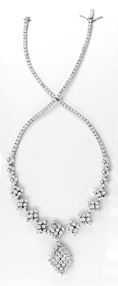 Foto 6, 20ct Diamantkollier Viele Trage Variationen Schmuck Neu, S8989