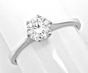 Foto 1, Spitzen Brillant Solitär Ring River! Wg 18K Luxus! Neu!, S8990