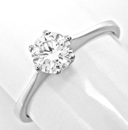 Foto 2, Spitzen Brillant Solitär Ring River! Wg 18K Luxus! Neu!, S8990