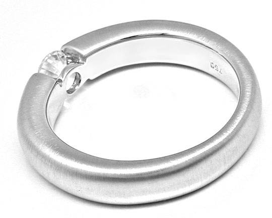 Foto 3 - Brillant Spann Ring River D massiv Weissgold Luxus! Neu, S8992