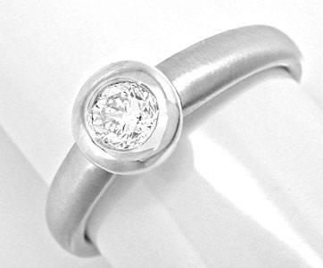 Foto 1, Neu! Brillant Designer Ring 18K Weissgold River! Luxus!, S8995