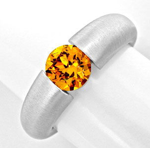Foto 1, Spannring 1,17ct Super Orange Gold Brillant Luxus! Neu!, S8997