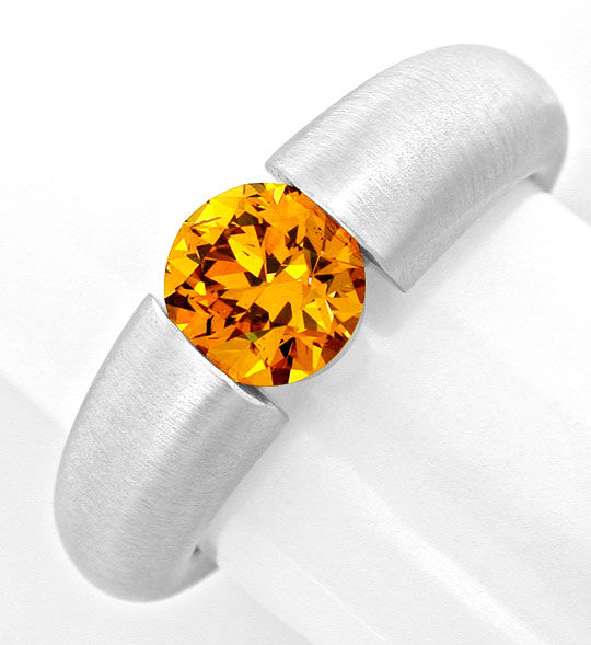 Foto 2, Spannring 1,17ct Super Orange Gold Brillant Luxus! Neu!, S8997