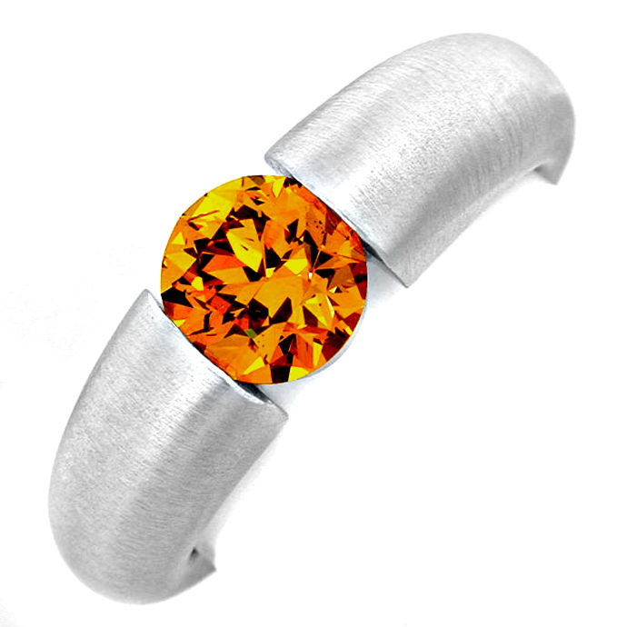 Spannring 1,17ct Super Orange Gold Brillant Luxus! Neu!, Designer Ring