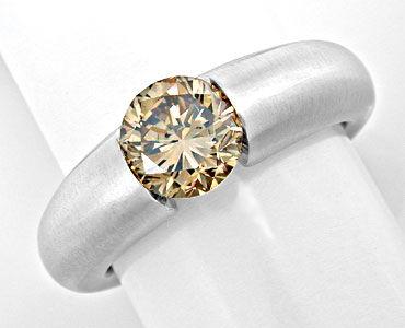 Foto 1, 1,56 Karäter IGI Brillant Spann Ring 18K Massiv Schmuck, S8998