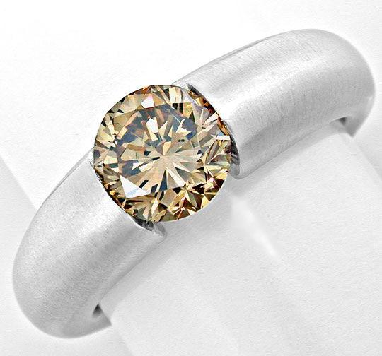 Foto 2, 1,56 Karäter IGI Brillant Spann Ring 18K Massiv Schmuck, S8998