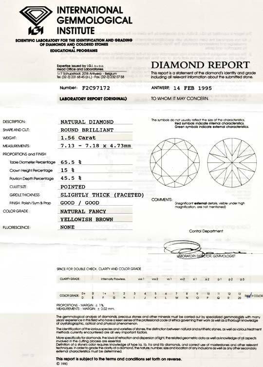 Foto 9, 1,56 Karäter IGI Brillant Spann Ring 18K Massiv Schmuck, S8998