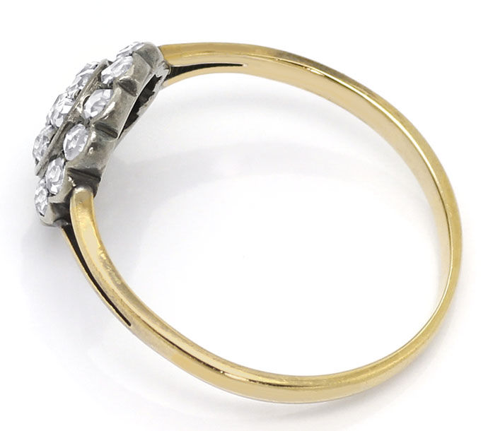Foto 3, Original alter Ring mit 0,64ct Diamantrosen Gold Silber, S9018