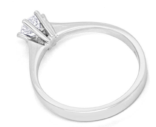 Foto 3, Diamant Krappen Solitär Ring 0,48ct Brillant 18K Luxus!, S9037