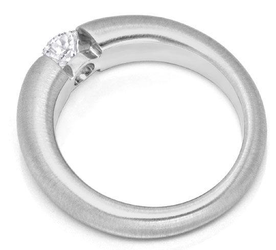Foto 3, Diamant Spannring 0,52 ct Brillant 18K Weissgold Luxus!, S9038