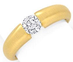 Foto 1, Brillant Spannring 0,66Carat massiv 18K Gelbgold Luxus!, S9041