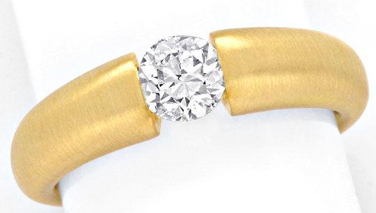 Foto 2, Brillant Spannring 0,66Carat massiv 18K Gelbgold Luxus!, S9041