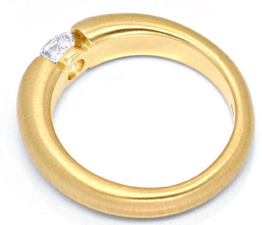 Foto 3, Brillant Spannring 0,66Carat massiv 18K Gelbgold Luxus!, S9041