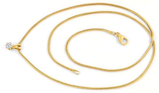 Foto 1, Brillant Krappen Kollier 0,26ct Gelbgold Collier Luxus!, S9044