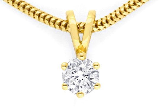 Foto 2, Brillant Krappen Kollier 0,26ct Gelbgold Collier Luxus!, S9044