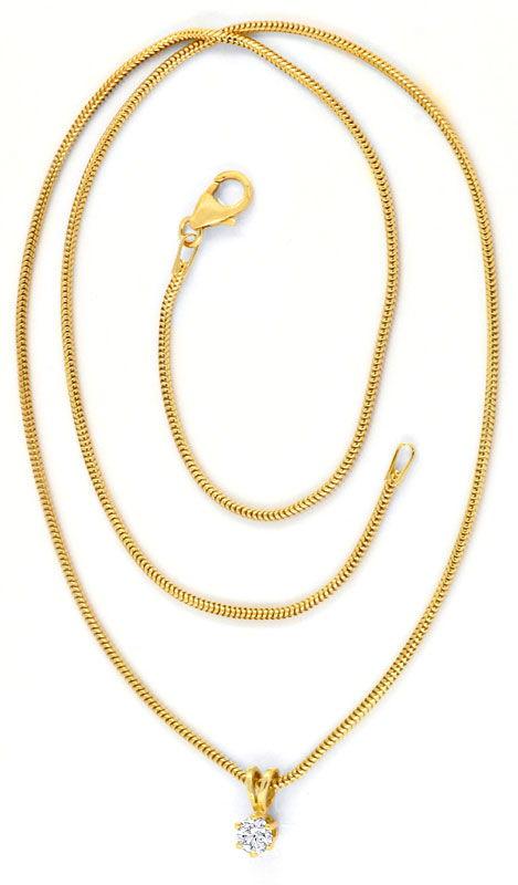 Foto 3, Brillant Krappen Kollier 0,26ct Gelbgold Collier Luxus!, S9044