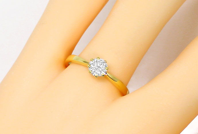 Foto 5, Diamant Solitär Ring mit 0,487ct Brillant DPL Expertise, S9065