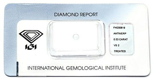 Foto 9, Goldring Diamant Blau Fancy Intense Blue Treated Luxus!, S9076