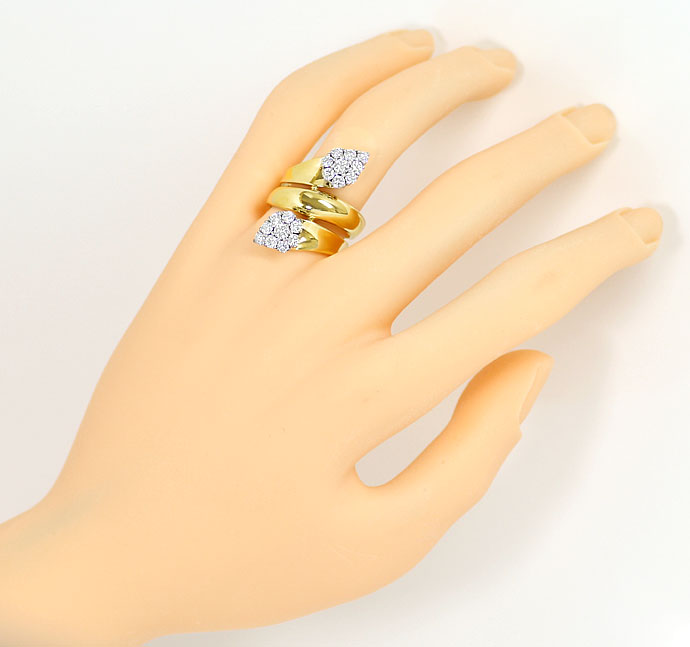 Foto 4, Ring mit 1,40ct River Brillianten in Gelbgold Weissgold, S9079