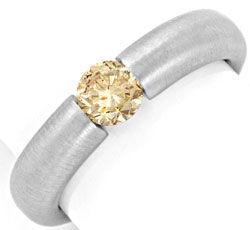 Foto 1, Brillant Spannring 0,51 IGI Gold Braun Weissgold Luxus!, S9125