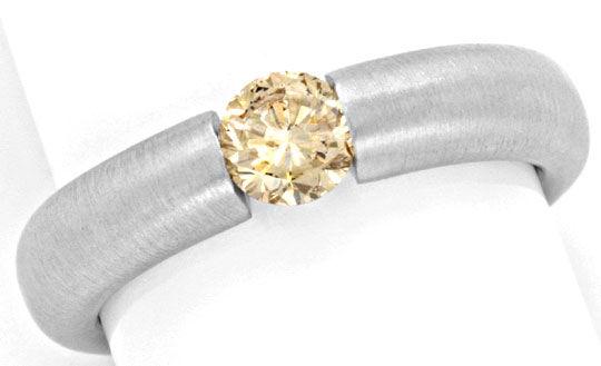 Foto 2, Brillant Spannring 0,51 IGI Gold Braun Weissgold Luxus!, S9125
