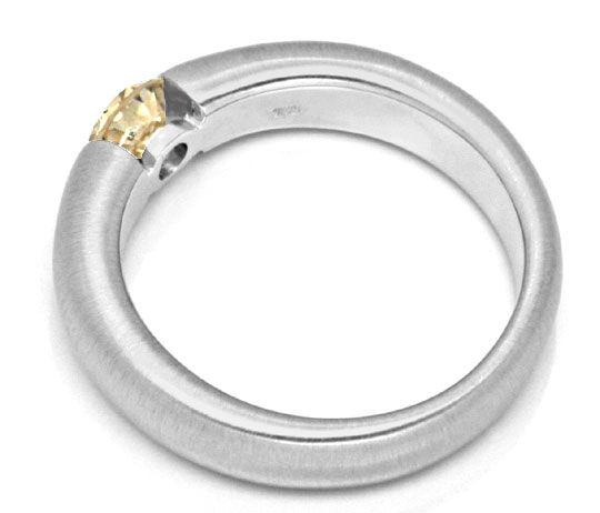 Foto 3, Brillant Spannring 0,51 IGI Gold Braun Weissgold Luxus!, S9125