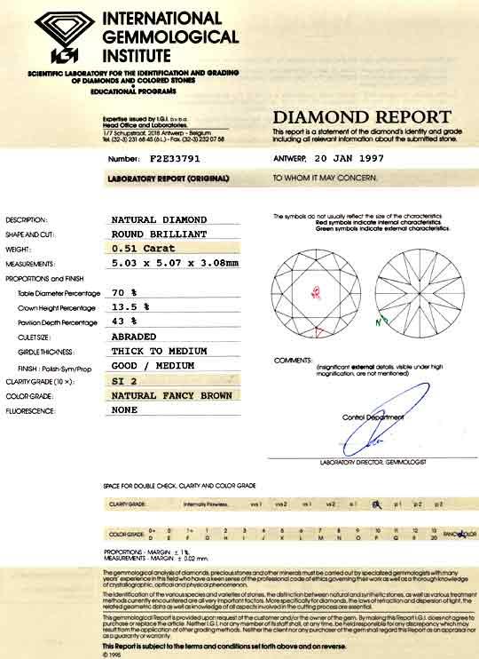 Foto 9, Brillant Spannring 0,51 IGI Gold Braun Weissgold Luxus!, S9125