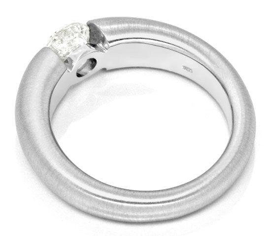 Foto 3, Brilliant Spannring 0,86ct Diamant 18K Weissgold Luxus!, S9138