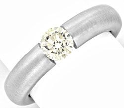 Foto 1, Diamant Spannring 0,78ct Brilliant 18K Weissgold Luxus!, S9139