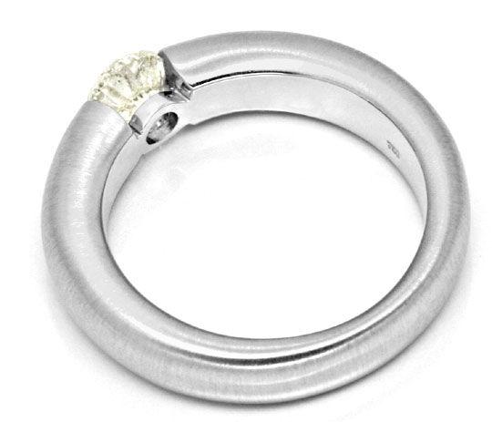 Foto 3, Diamant Spannring 0,78ct Brilliant 18K Weissgold Luxus!, S9139