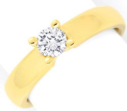 Foto 1, Massiver Krappen Brillant Diamant Ring Gelb Gold Luxus!, S9140