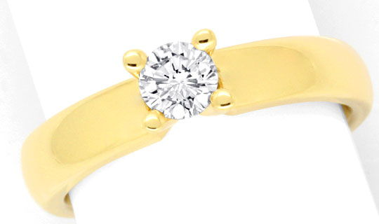 Foto 2 - Massiver Krappen Brillant Diamant Ring Gelb Gold Luxus!, S9140