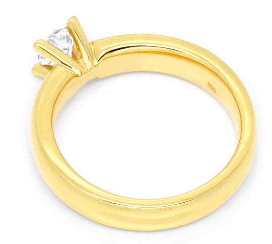 Foto 3, Massiver Krappen Brillant Diamant Ring Gelb Gold Luxus!, S9140