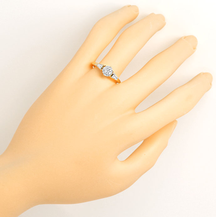 Foto 4 - Brillant Diamant Ring 0,9ct TW LC DPL und 0,4ct Trapeze, S9141