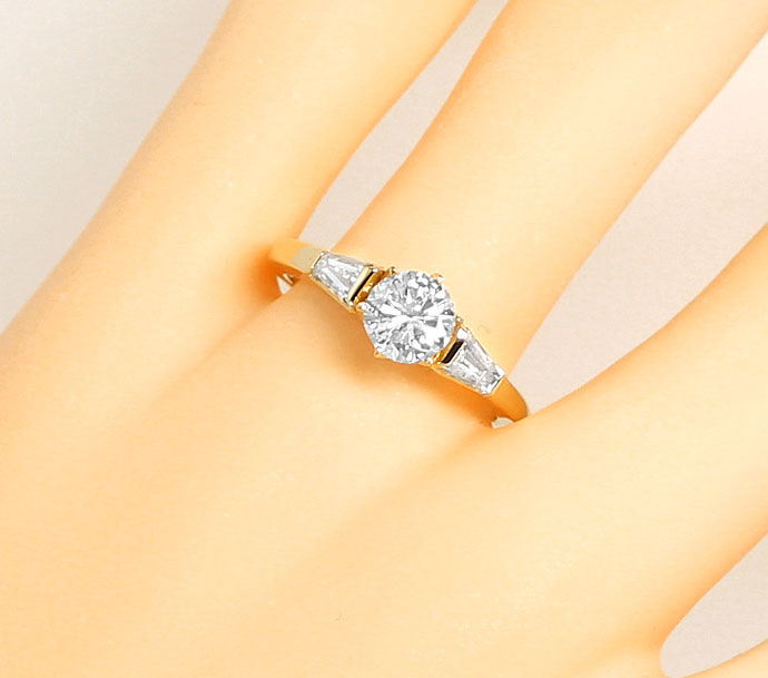 Foto 5 - Brillant Diamant Ring 0,9ct TW LC DPL und 0,4ct Trapeze, S9141