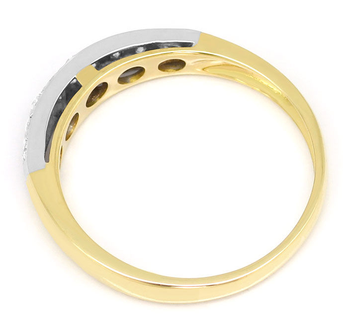 Foto 3, Halbmemory-Ring mit 0,20ct Brillanten, 18K Bicolor-Gold, S9152
